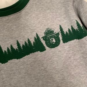 Mighty Fine Tops - NEW Smokey The Bear Cropped Sweatshirt
